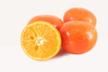 Clementines cut isolated close up Stock Image