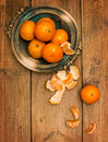 Clementines On Wooden Board Royalty Free Stock Photo