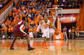 Clemson v florida state cllemson sc january jordan roper is guarded by michael ojo Royalty Free Stock Photos
