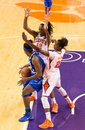 Clemson v middle tennessee w bb sc december quinyotta pettaway and nikki dixion play defense at the post Stock Photo