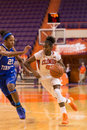 Clemson v middle tennessee w bb sc december s nikki dixon races ebony rowe to the basket Stock Image