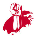 Clenched fist hand . Victory, revolt concept. Royalty Free Stock Photo
