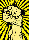 Clenched fist a held high in protest Royalty Free Stock Photos