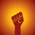 Clenched fist held in protest concept vector illustration Stock Photos