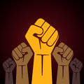 Clenched fist held in protest illustration stock Stock Image