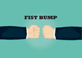 Clenched Fists of Businessman Vector Illustration for Fist Bump