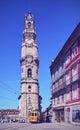 Clerigos tower in porto torre dos portugal Stock Photos