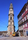 Clerigos tower in porto torre dos portugal Royalty Free Stock Images