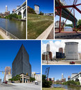 Cleveland, Ohio collage Royalty Free Stock Image
