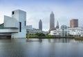 Cleveland ohio in the united states city skyline Royalty Free Stock Image