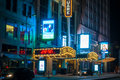 Cleveland theaters oh january the marquees of the ohio state and palace the heart of playhouse square s theater district Stock Image