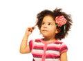 Clever little black girl Stock Photo