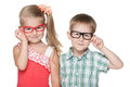 Clever little kids Royalty Free Stock Photo