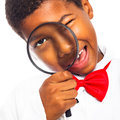 Clever scientist child Stock Image