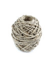 Clew string rope of twine isolated on white Stock Images