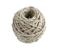 Clew string rope of twine isolated on white Royalty Free Stock Image