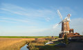 Cley windmill and marshes north norfolk england holt december Royalty Free Stock Photography