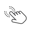 Click hand icon. Cursor finger sign flat vector. Royalty Free Stock Photo