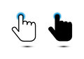 click hand icon pointer Royalty Free Stock Photo