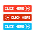 Click Here Button Colorful Web Icon Set Royalty Free Stock Photo