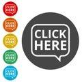 `Click Here` button, Click here icon, Click here sign Royalty Free Stock Photo