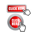 Click here vector buttons set Stock Photography