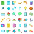 Click mouse icons set, cartoon style Royalty Free Stock Photo