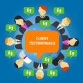 Client testimonials consumer feedback service opinion