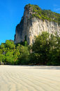 Cliff on beautiful railay beach thailand Stock Photography