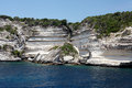 Cliff at bonifacio corsica typical rocks the coast of south Royalty Free Stock Photo