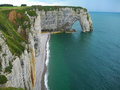 Cliff cfiffs etretat france cliffs at in normandy Stock Image