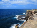 Cliff coastal landscape top view of an australian sea with clear views over the ocean on a sunny day Stock Image