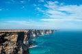 Cliff coastline nullarbor plain western australia Stock Photography