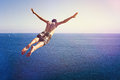 Cliff Diver Royalty Free Stock Photo