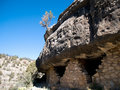 Cliff dwelling Stock Photo