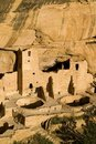Cliff dwellings and kivas Stock Photography
