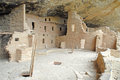 Cliff dwellings made of sandstone mesa verde national park colorado usa Royalty Free Stock Photo