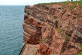 Cliff of helgoland the sandstone the german island in the north sea Royalty Free Stock Photos