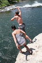 Cliff Jumping Stock Images