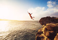 Cliff Jumping Royalty Free Stock Photo