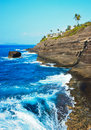 Cliff Near Spitting Cave of Portlock, Oahu Royalty Free Stock Images