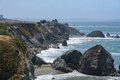 Cliff in the Pacific ocean,  Big Sur California USA Royalty Free Stock Photo