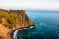 Cliff in the Pacific Ocean near Big Sur, California, USA Royalty Free Stock Photo