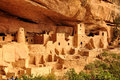 Cliff palace mesa verde national park colorado Royalty Free Stock Images