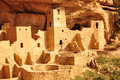 Cliff palace mesa verde usa Royalty Free Stock Images