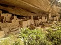 Cliff palace ruins at mesa verde the ancient anasazi of national park in the four corners region Stock Photography