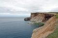 Cliff and shore of newfoundland on port au port peninsula canada Royalty Free Stock Photos