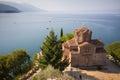 Cliff-top church at Lake Ohrid, Macedonia Royalty Free Stock Photo
