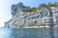 Cliff in turkey rock sea coast and kemer Royalty Free Stock Photos