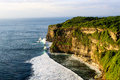 Cliff at the uluwatu temple bali indonesia Stock Images
